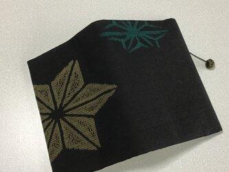 0307    ★再販★    着物リメイク    文庫サイズブックカバー     銘仙     麻の葉の画像