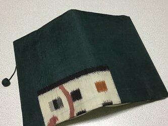 0309    ★再販★    着物リメイク    文庫サイズブックカバー    横段に唐草の画像