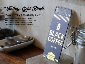 iphone XR ケース ブラック コーヒー ヴィンテージ ゴールド ブラック スマホケース HARRYS APARTMENTの画像