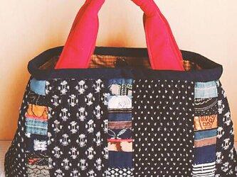 №160 絣の賑やかバッグの画像