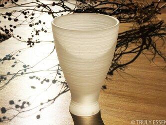 無色透明グラス -「 The Vessel of Light - 月明かりの器 」● 高さ14cmの画像