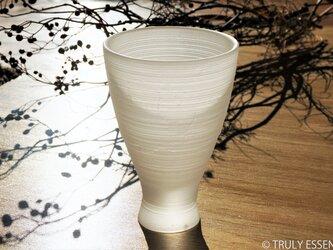無色透明ガラスの器 -「 The Vessel of Light - 月明かりの器 」● 高さ14cmの画像