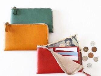薄型長財布!カードも入って小銭も見やすい!!選べる3色展開、新色(受注生産)の画像