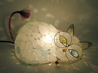 シーグラスランプ 猫らんぷ-19 の画像
