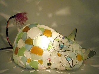 シーグラスランプ 猫らんぷ-20 の画像