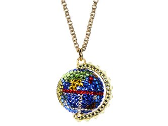 Earth Pendant / L   ~CRYSTALLIZED™ - Swarovski Elements~の画像