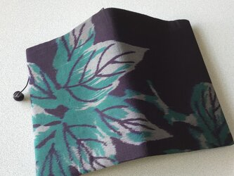 0314    ★再販★    着物リメイク    文庫サイズブックカバー    枝葉模様の画像