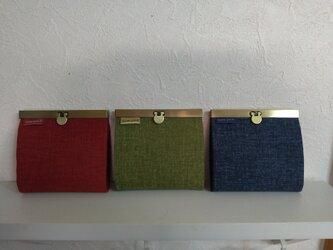 カード財布M ドット(紅・抹茶・紺)の画像