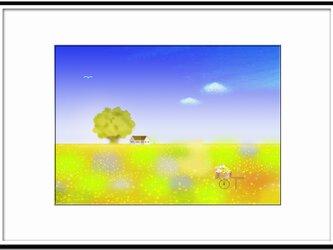 「ルンルン(^^♪」 ほっこり癒しのイラストA4サイズポスターNo.631の画像