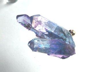 幻想鉱物 インクルージョンクォーツM2-E ブローチの画像