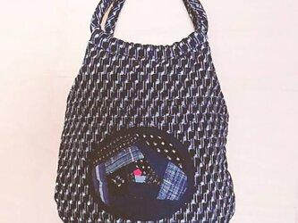 №161 絣のバッグの画像