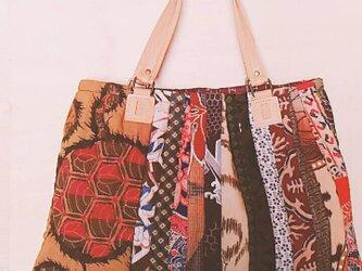 №157 更紗のストリングキルトバッグの画像