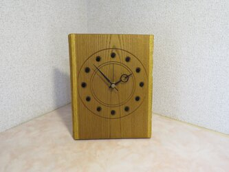 キハダの掛け置き兼用時計の画像