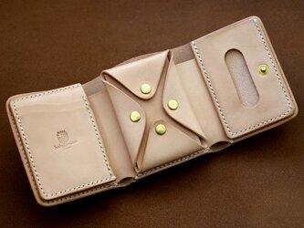本革サドルレザーの三つ折財布【受注製作】の画像