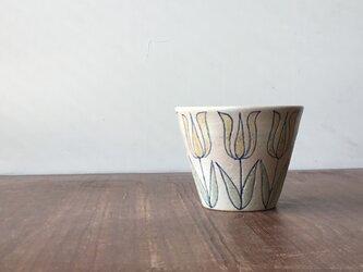 フリーカップ 釉彩チューリップ 黄の画像