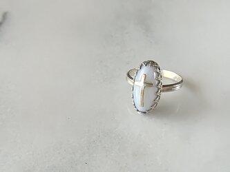【一点物】Blue race agate Ringの画像