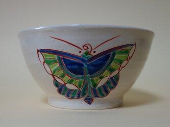 蝶文色絵碗の画像