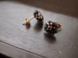 タティングレース 14kgf  confeito(コンフェイト)silk beads  black 受注制作の画像