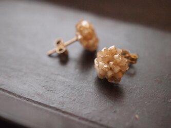 タティングレース 14kgf  confeito(コンフェイト)silk beads  beige 受注制作の画像