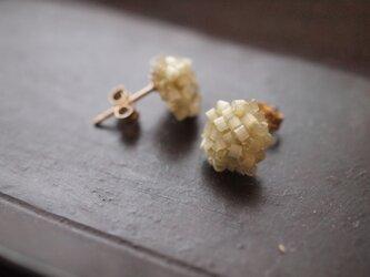 タティングレース 14kgf  confeito(コンフェイト)silk beads  green 受注制作の画像