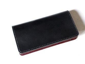 【即納品】長財布 ~栃木ブラックサドル×栃木アニリンバーガンディー~の画像