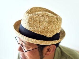 Lloyd ロイド 麦わら 紳士用 小ツバ 中折れハット 麦わら帽子 ナチュラル 59cm [UK-H077-NA]の画像