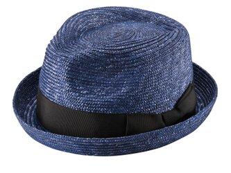 Lloyd ロイド 麦わら 紳士用 小ツバ 中折れハット 麦わら帽子 ネイビー 59cm [UK-H077-NV]の画像