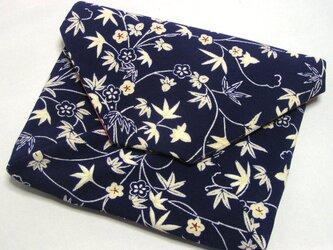正絹 改良数寄屋袋 仕切り付き 古帛紗を折らずに入れたくて作りましたの画像