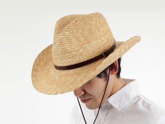 ブルーノ 麦わら テンガロンハット 男性用 60cm [UK-H024-NA-L]の画像
