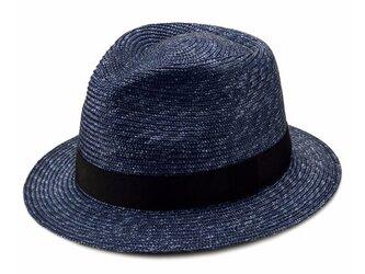 Glan グレン フェドラー型 中折れ 麦わら 帽子 中折れハット ストローハット[UK-H052-L-NV]の画像