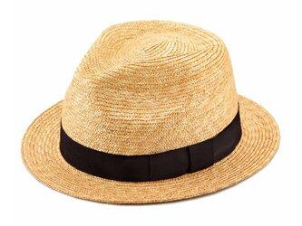 Glan グレン フェドラー型 中折れ 麦わら 帽子 中折れハット ストローハット [UK-H052-L-NA]の画像