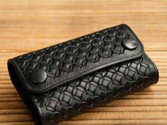 カードケース(名刺入れ):ダールブラック鍍金&スタンピング仕様の画像