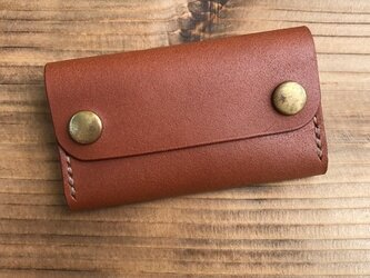 カードケース(名刺入れ):ブラウン(床革)の画像