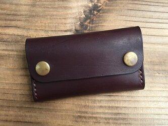 カードケース(名刺入れ):多脂革 チョコの画像