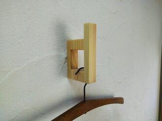 3個セット 壁付けハンガーフック コートフック (type d) / 国産ヒノキの画像