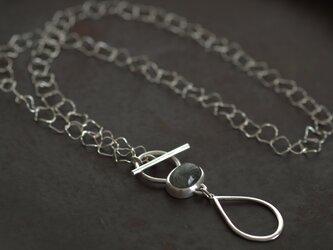 針水晶 グラスホルダー ネックレスの画像