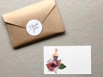 ばらのドレスのメッセージカード 20枚の画像