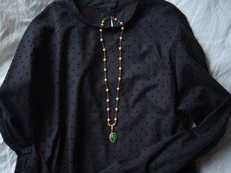[vintage]モネの睡蓮のようなネックレスの画像