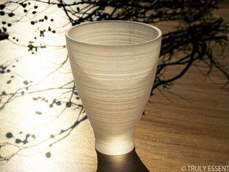 無色透明グラス -「 The Vessel of Light - 月明かりの器 」● 高さ13cmの画像