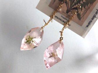 幻想鉱石 桜 チェーンピアスの画像
