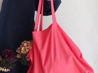 cotton linen bag (coral pink)の画像