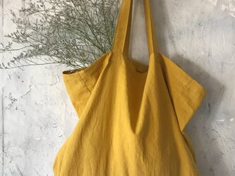 cotton linen bag (mustard)の画像