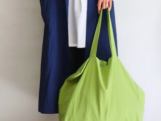 cotton linen bag (pistachio)の画像
