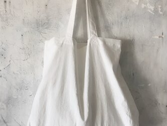 cotton linen bag (white)の画像