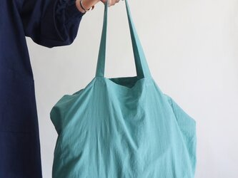cotton linen bag (smoky aqua)の画像