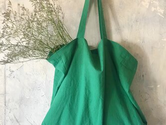 cotton linen bag (green)の画像