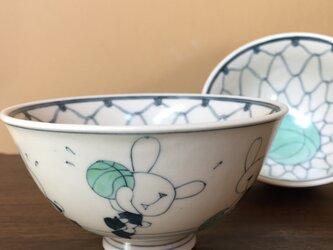 ごはん茶碗(うさぎバスケット)の画像