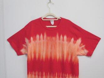 タイダイ染め 不思議なもようの半袖Tシャツ2019②〔XL〕の画像