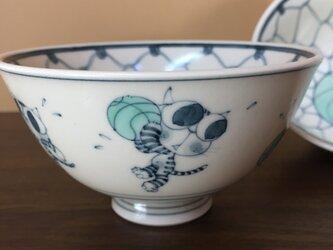ごはん茶碗(猫バスケット)の画像