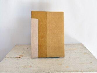 B5ノートカバー|草木染め モダンキルトのノートカバー#01の画像